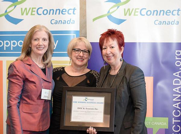 Doris Ouellet de Doc et associés reçoit le prix Winning Women Doing Business